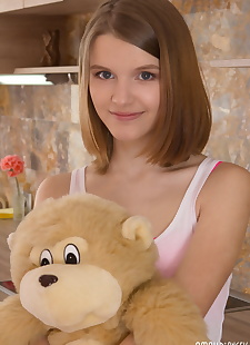 xxx pics Slender teen puts down plush toy, ass , panties  fetish