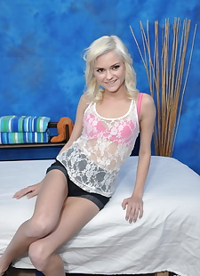 xxx pics Cute blonde chloe is seduced and, blonde  ass