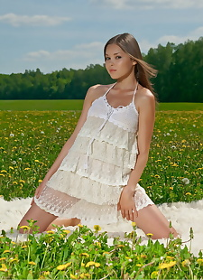 xxx pics Cute girl Nastya K in lace dress, ass , outdoor