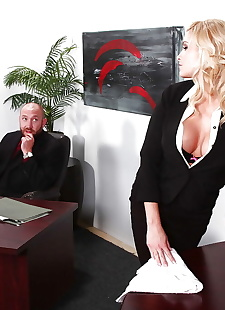 xxx pics Stunning secretary with round jugs, blonde , blowjob