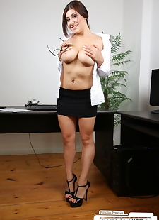xxx pics Accommodating busty secretary gets on, petite , european