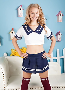 xxx pics Sexy schoolgirl in knees socks drops, ass , blonde