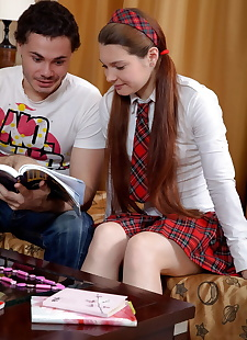 xxx pics Schoolgirl in her school uniform opts, ass , blowjob