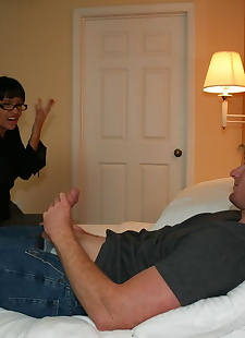xxx pics Nerdy brunette Angie Noire gives an, blowjob , brunette