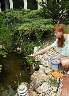 xxx pics Amateur redhead Anny Aurora has her, ass , outdoor