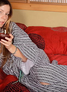 xxx pics Emily 18 takes a sip of wine and the, Emily Eighteen , petite , amateur