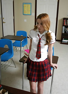 xxx pics Sexy redhead schoolgirl is on her, ass , petite