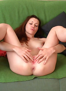 xxx pics Alice upskirt and stretching her cunt, ass , masturbation