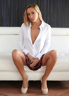 xxx pics Schoolgirl Hollie Mack flashes her, ass , blonde
