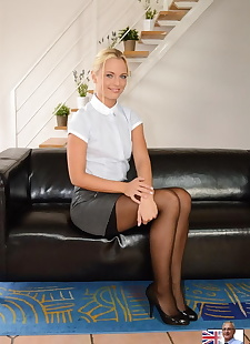 xxx pics Sexy blonde in short skirt and black, ass , blonde
