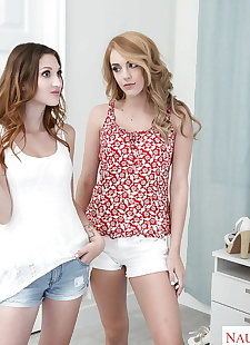 xxx pics Teen cuties pull on stockings and, ass , lesbians