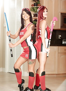 xxx pics Field hockey players Gina Valentina &, ass , panties