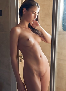 xxx pics Naughty brunette Hilary washes her, brunette , shower