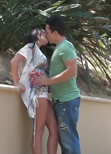 xxx pics Petite brown haired sweetie China, outdoor , petite